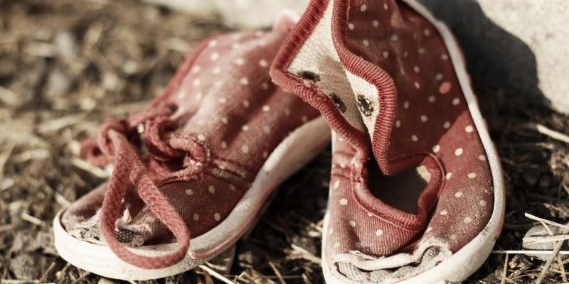 Abgewetzte Schuhe